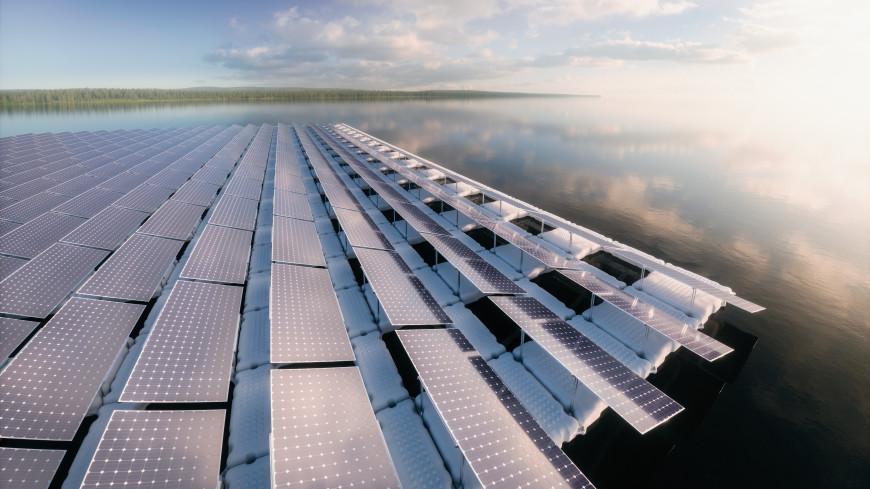 Огромную плавучую солнечную электростанцию открыли в Сингапуре