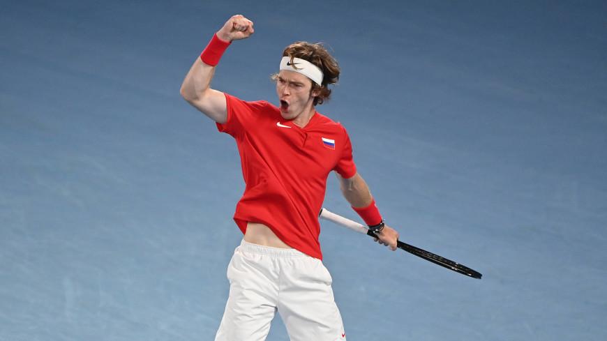 Сборная России по теннису вышла в финал ATP Cup благодаря Медведеву и Рублеву