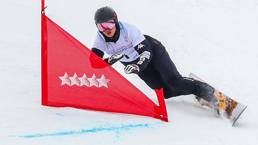 Сноубордисты из России заняли весь пьедестал в параллельном слаломе на этапе КМ