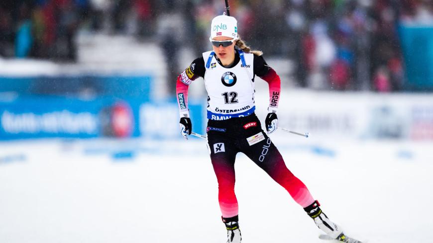 Тириль Экхофф выиграла гонку преследования на чемпионате мира по биатлону