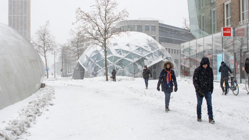 Нидерланды парализовала первая за 10 лет снежная буря
