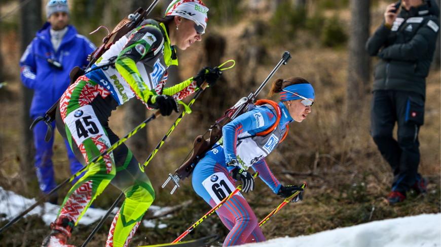 Белорусская биатлонистка Анна Сола выиграла бронзовую медаль на чемпионате мира