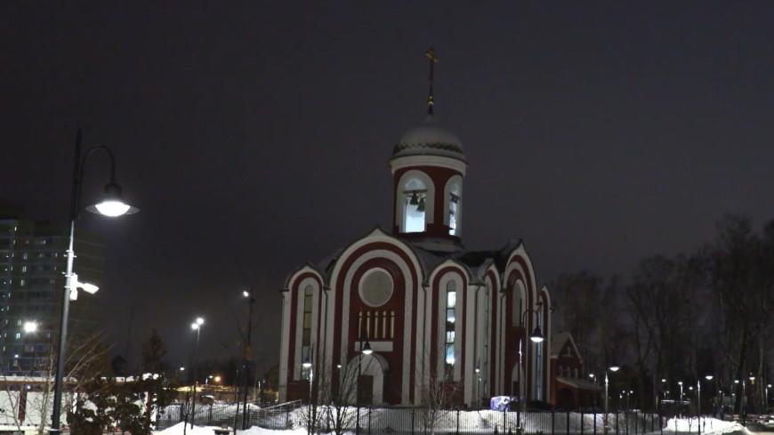 В строящемся храме Росгвардии в Подмосковье прошла первая рождественская служба