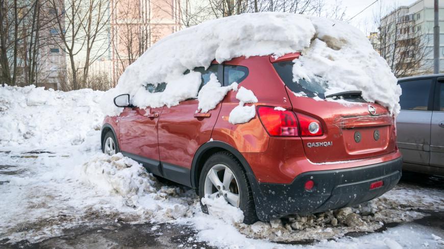 Зима в городе (снег, сугроб, холод, мороз, автомобиль, машина, парковка)