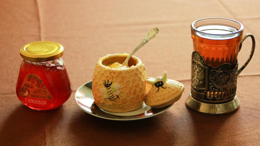 чай, мед, лечение, здоровье, еда,