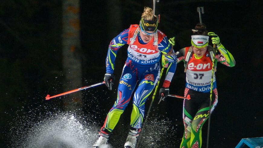 Белорусские биатлонистки заняли второе место в эстафете в Оберхофе