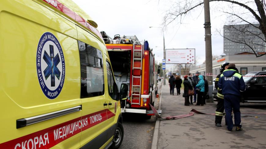 Семь человек спасены при пожаре в жилом доме на западе Москвы