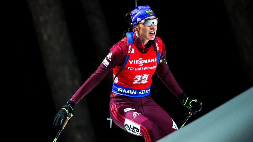 Российские биатлонисты завоевали «золото» в смешанной эстафете Кубка мира в Оберхофе