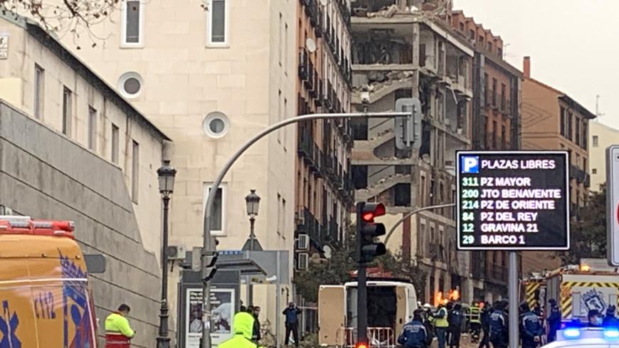 В Мадриде снесут верхние этажи здания, в котором произошел взрыв
