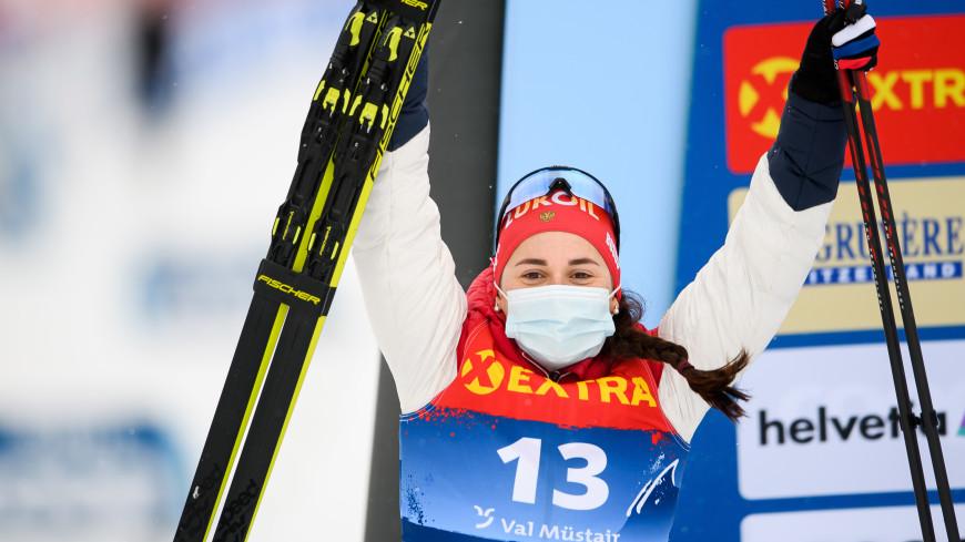 Лыжница Ступак завоевала серебро в масс-старте на этапе КМ в Швеции