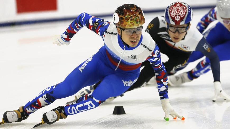 Елистратов завоевал золото на дистанции 1500 метров на ЧЕ по шорт-треку