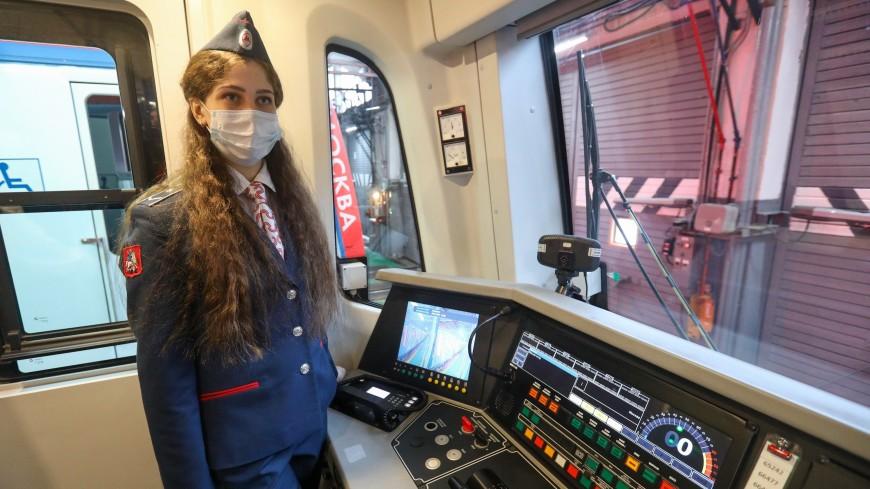 В московском метро запустили первый поезд под управлением женщины