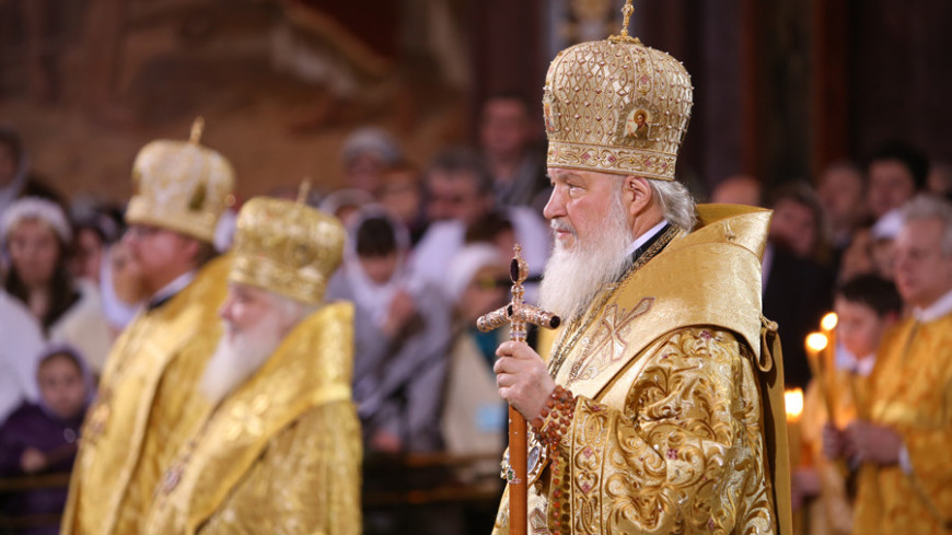 "Фото: Максим Кулачков, ""«МИР 24»"":http://mir24.tv/, патриарх кирилл, служба, рождество, церковь, кирилл"