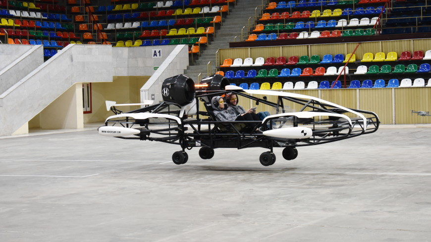 В Москве начались испытания дрона-такси для доставки пассажиров на расстояние до 100 км