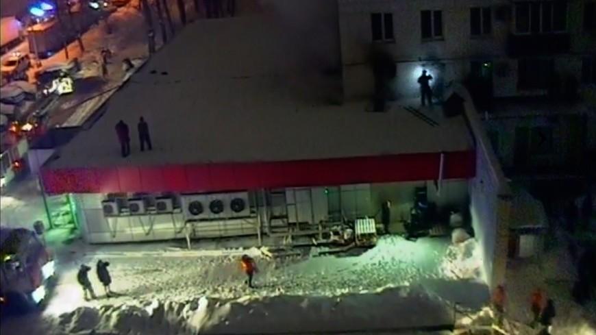 Десять человек спасены при пожаре в жилом доме на юго-востоке Москвы