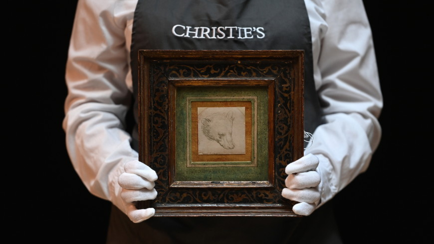 Рисунок головы медведя авторства да Винчи продали за рекордные $12,2 млн