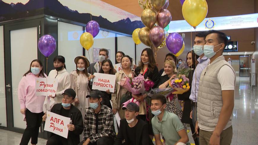 Звезда «Славянского базара» Рухия Байдукенова вернулась в Казахстан с Золотой лирой