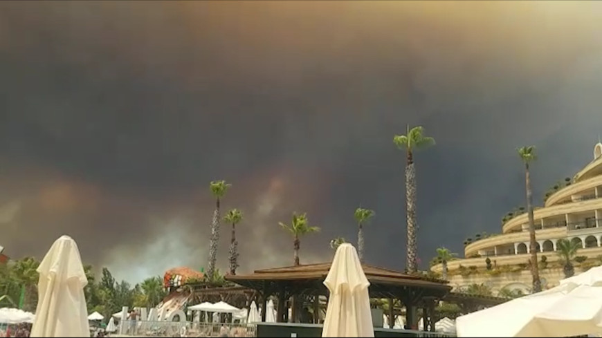Курорты в огне: лесные пожары охватили 13 турецких провинций