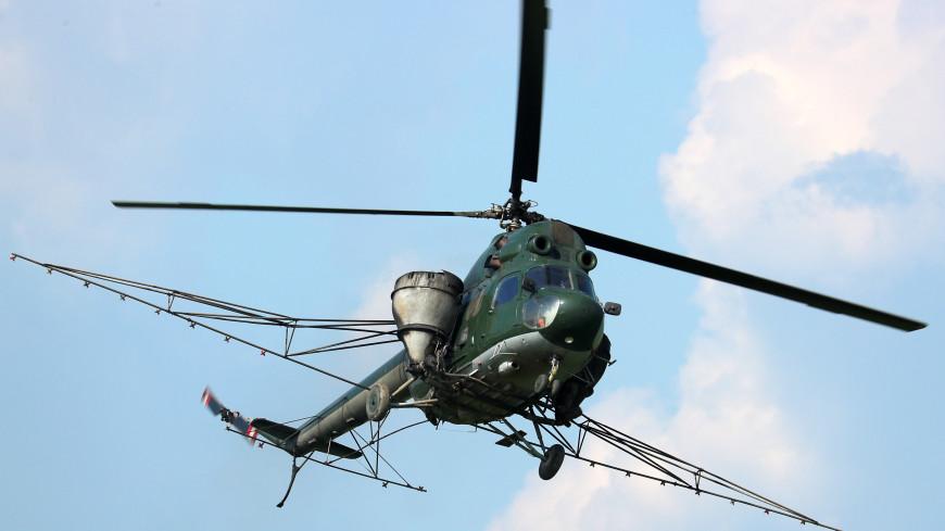 Вертолет Ми-2 совершил жесткую посадку в Кабардино-Балкарии, пилот скрылся