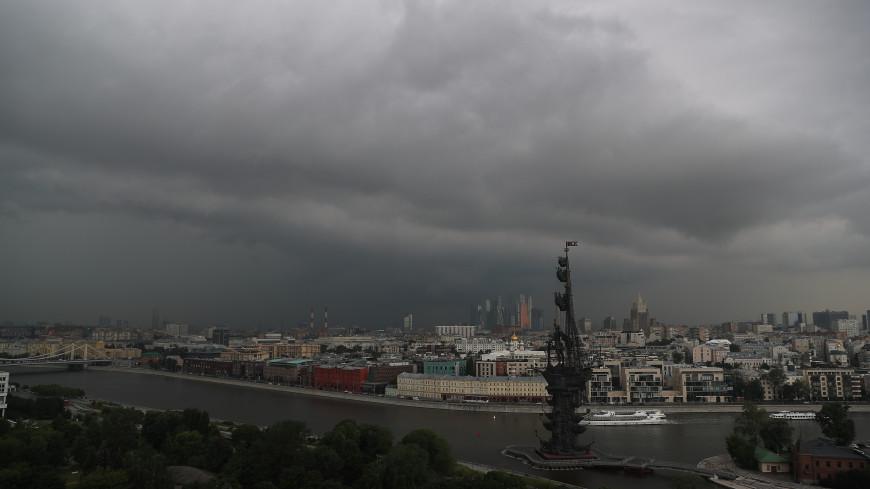 Поваленные деревья и затопленный аэропорт: на Москву обрушился тропический ливень