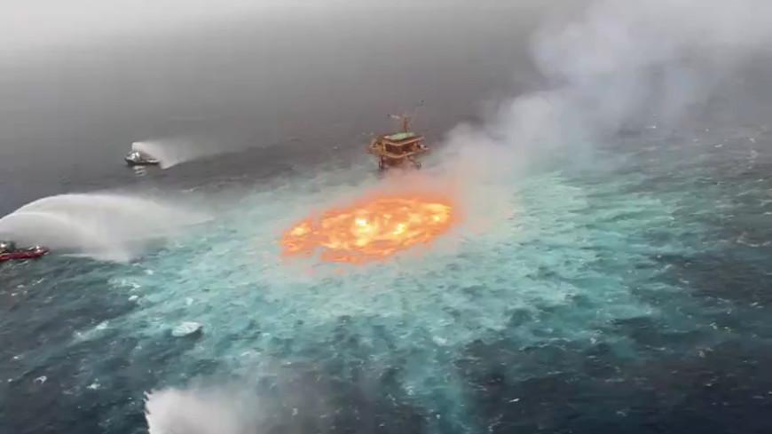 В Мексиканском заливе произошел подводный пожар