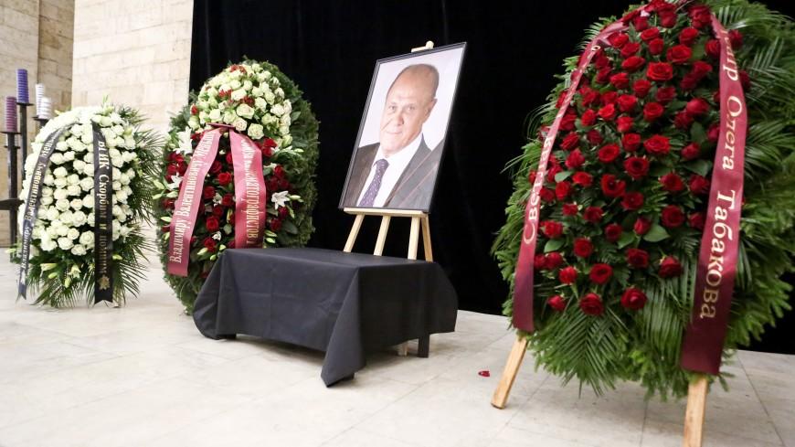 Владимир Меньшов похоронен на Новодевичьем кладбище