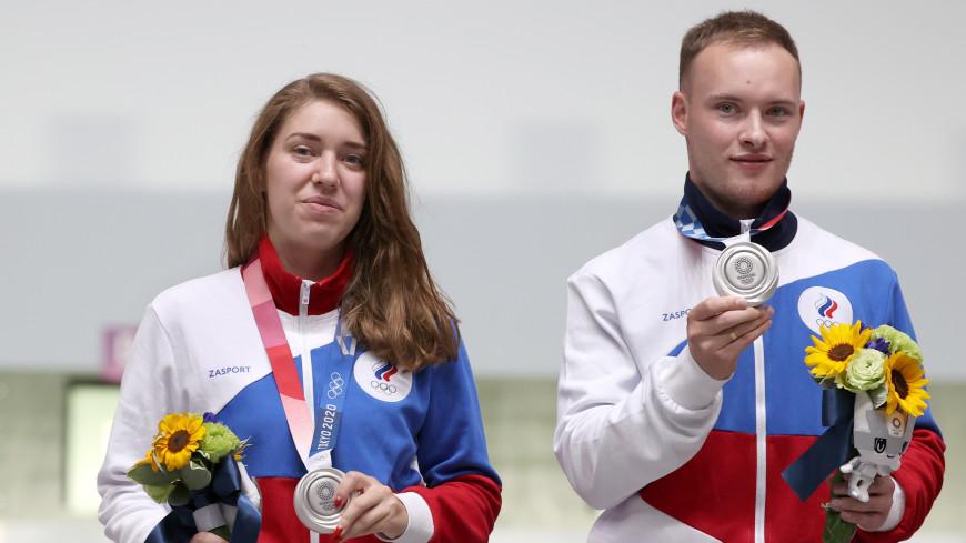 Бацарашкина и Черноусов завоевали серебро Олимпиады в стрельбе из пистолета