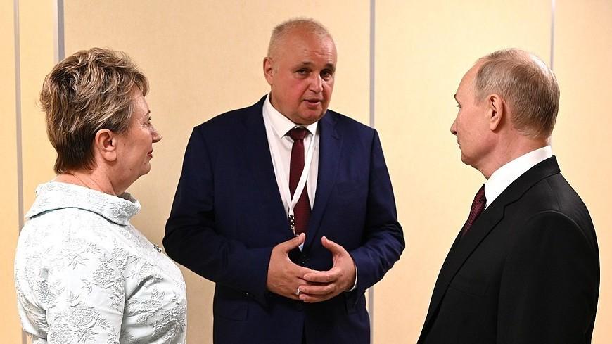 Путин обсудил с главой Кузбасса наиболее актуальные для края вопросы