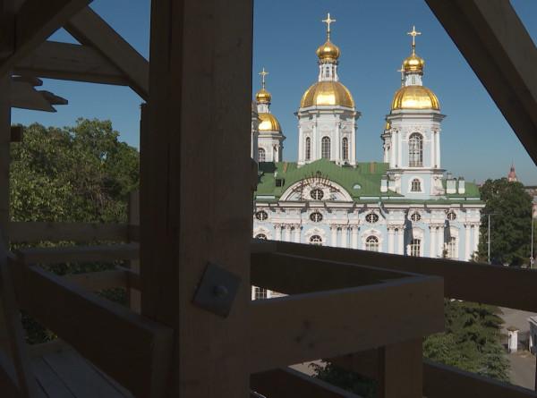 Пластика для ангелов: в Петербурге началась реставрация колокольни Никольского собора
