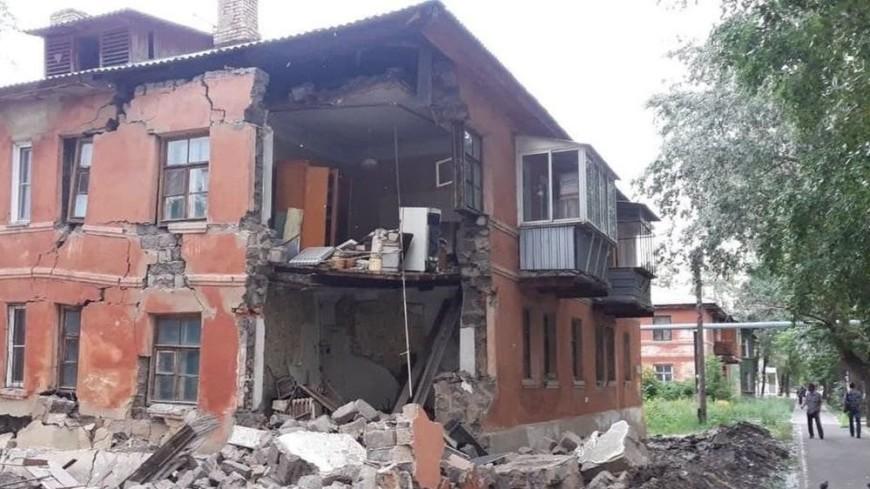 В Челябинске обрушилась часть жилого дома