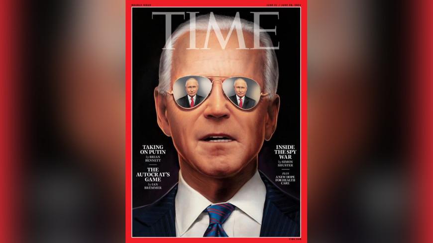 Журнал Time поместил на обложку Байдена с отражением Путина в стеклах очков