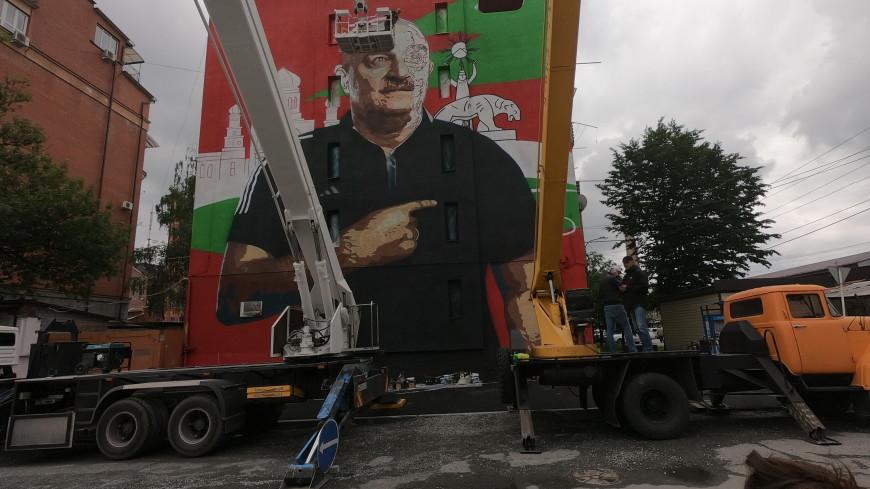 На многоэтажке в центре Владикавказа появилось граффити с Черчесовым