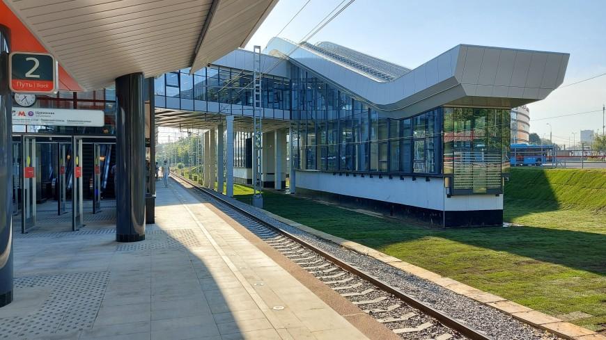 Собянин открыл новую станцию-вокзал «Щукинская» МЦД-2
