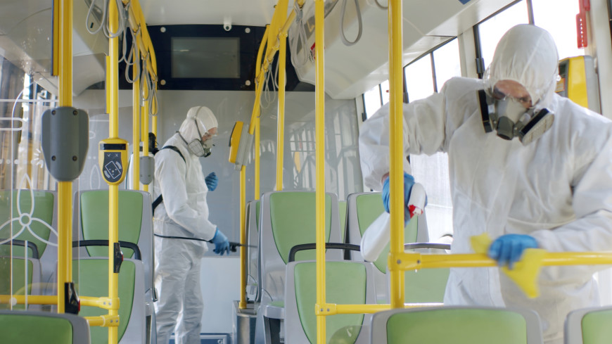 В Москве усилили санитарную обработку общественного транспорта