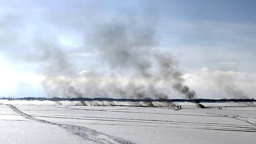 Пожар на месте разлива углеводородов на реке Обь в Югре ликвидирован