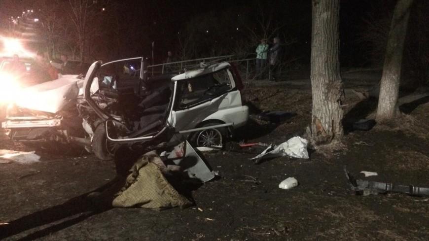 В Приморье автомобиль врезался в дерево: двое погибших, шестеро пострадавших
