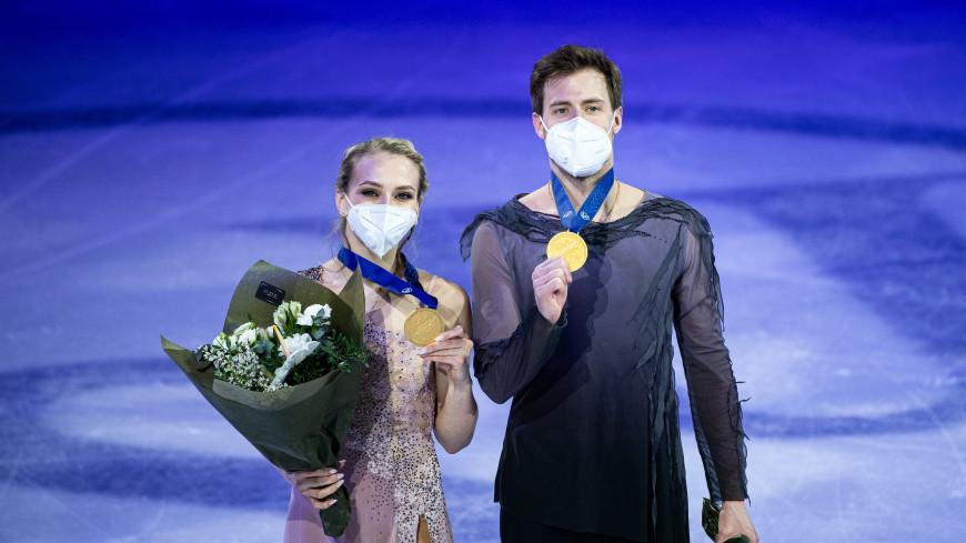 Фигуристы Синицина и Кацалапов стали чемпионами мира в танцах на льду