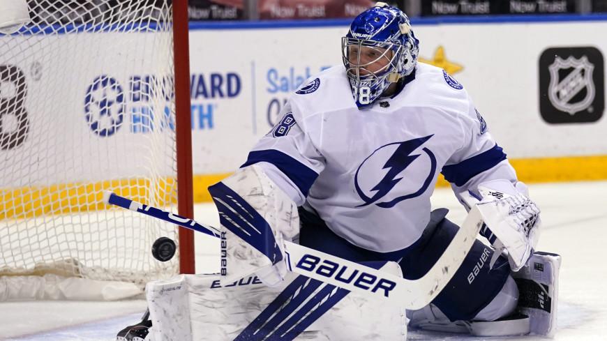 Российский голкипер «Тампы» Андрей Василевский стал первой звездой недели в НХЛ