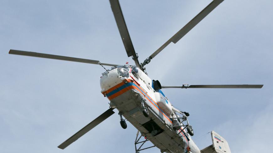 """© Фото: """"Алан Кациев, «Мир 24»"""":http://mir24.tv/, авария на синей ветке 15.07.2014, вертолет, мчс, гуманитарная помощь"""