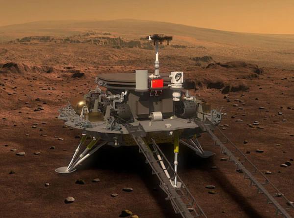 Китайский марсоход «Чжужун» добрался до пункта назначения