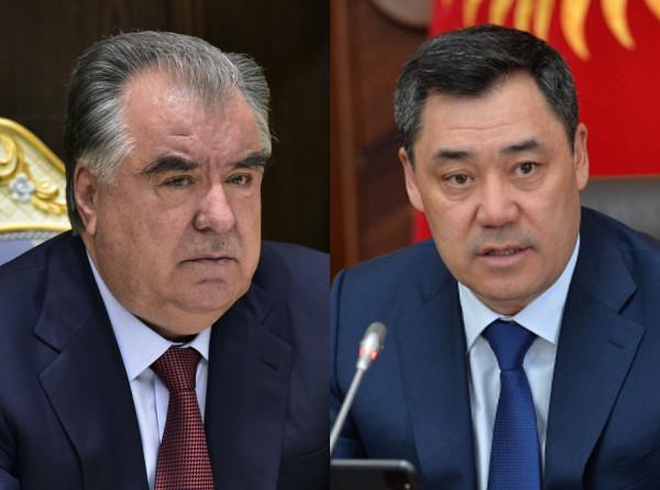Эмомали Рахмон и Садыр Жапаров отметили важность продвижения переговорного процесса по делимитации границы