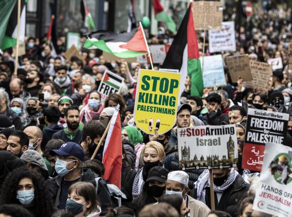 Слезоточивый газ и водометы: палестино-израильский конфликт прокатился эхом по Европе