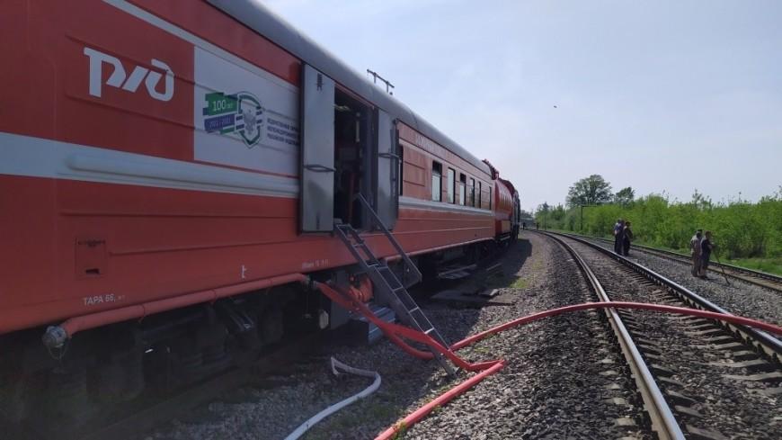 Крупный пожар тушат на территории бывшего лесокомбината в Ульяновской области