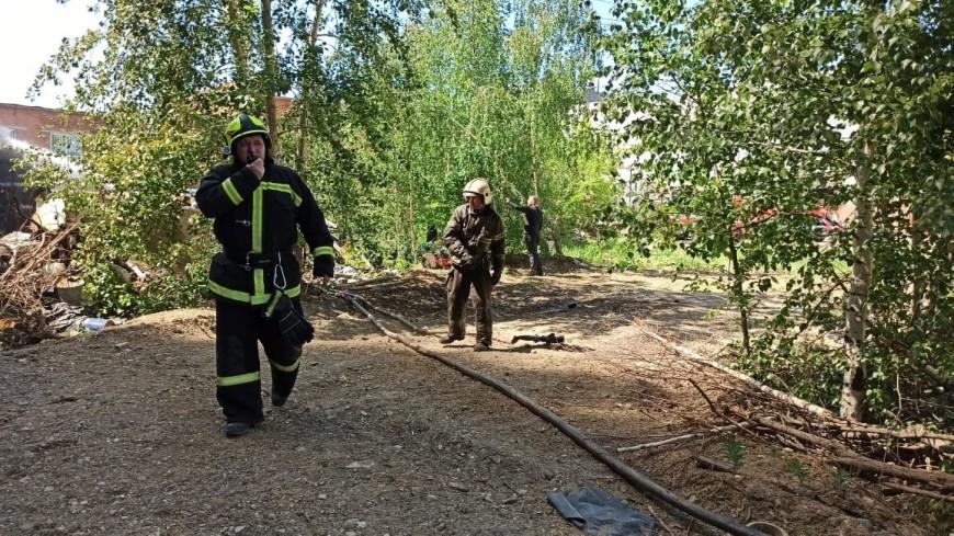 Открытое горение на производственной площадке ликвидировали в Екатеринбурге