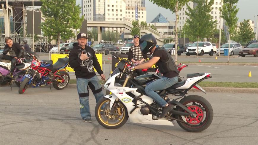 Трюковая езда набирает популярность среди алматинских мотоциклистов