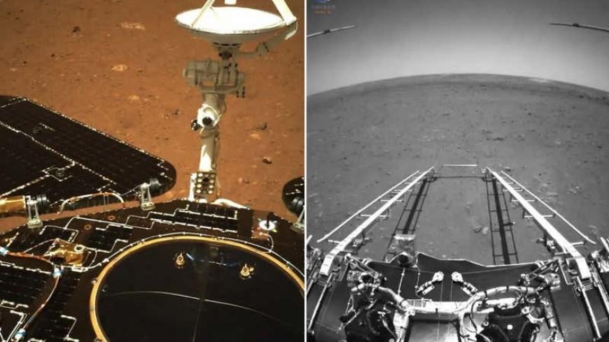 Китайский марсоход «Чжужун» передал первые снимки с Марса