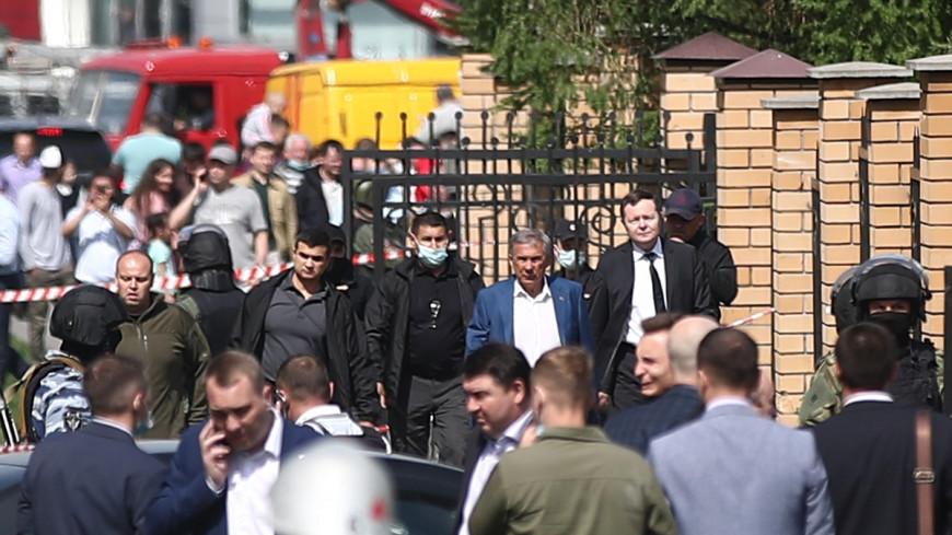 Стрельба в Казани: на место ЧП выехал глава Татарстана Минниханов