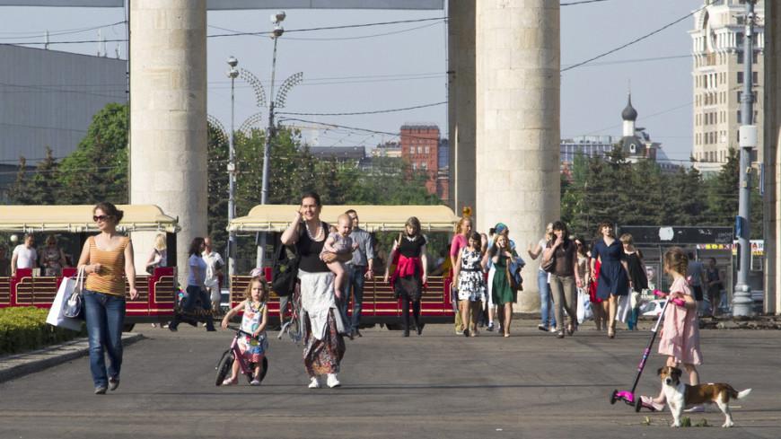 """Фото: """"«МИР 24»"""":http://mir24.tv/, москва, жара, лето, люди, отдых, парк, парк горького"""