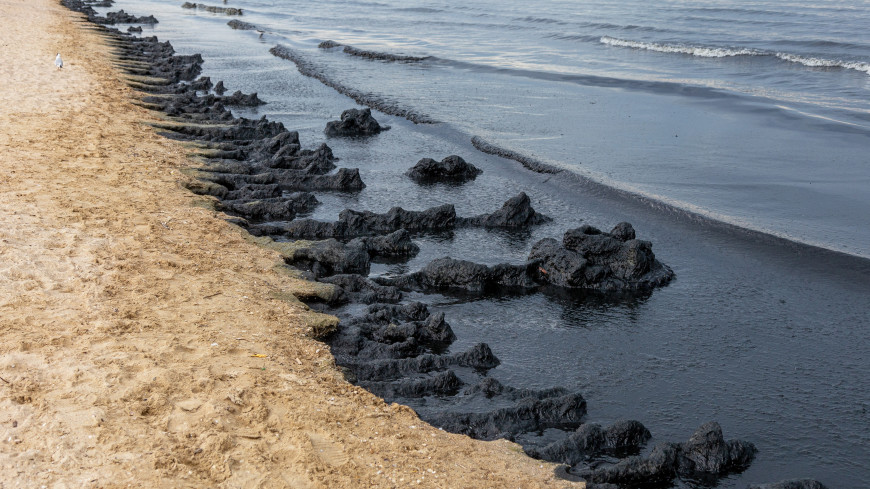 Режим повышенной готовности введен из-за разлива нефти в Туапсе