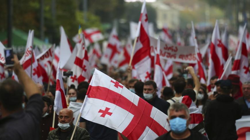 Многотысячный митинг за освобождение Саакашвили собрался в центре Тбилиси